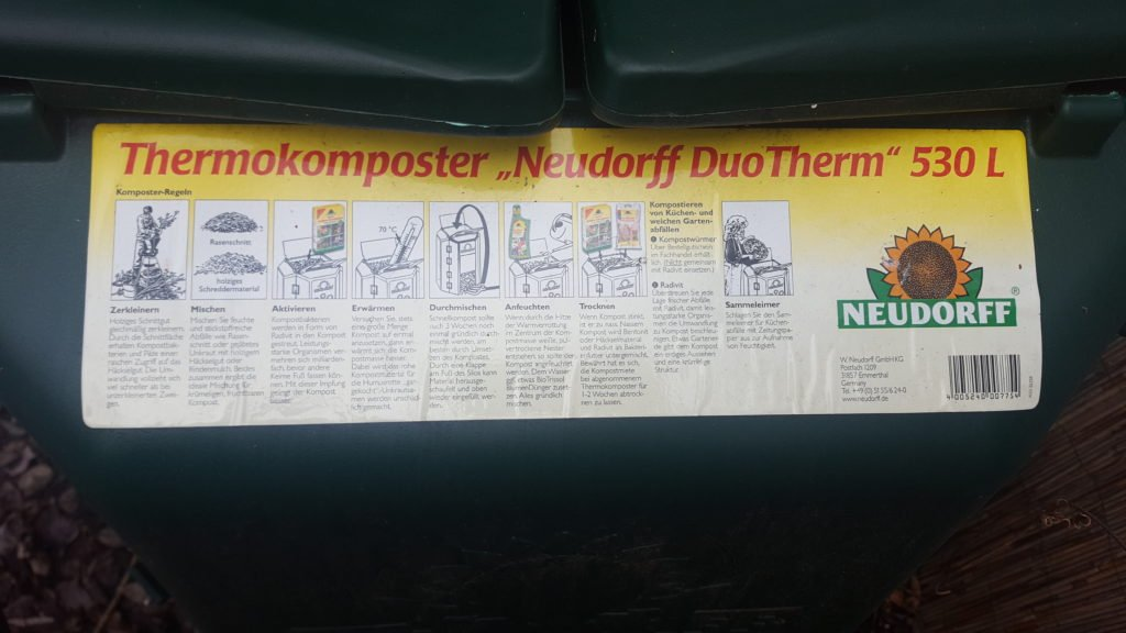 Neudorff Duo Therm 530 L Thermokomposter - Anleitung